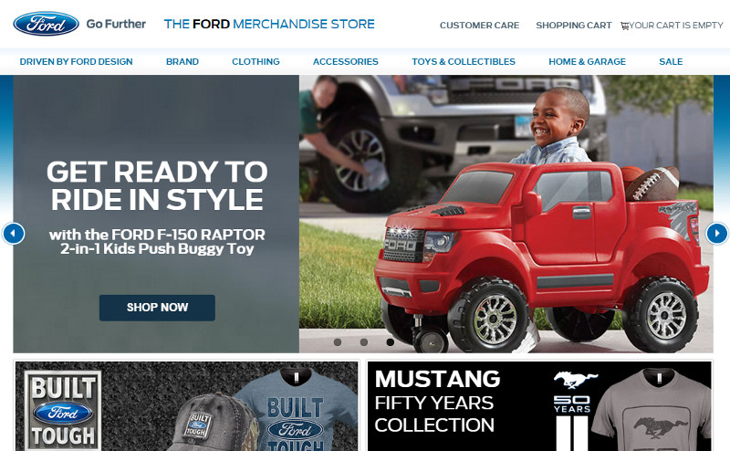 Ford branded merchandise website