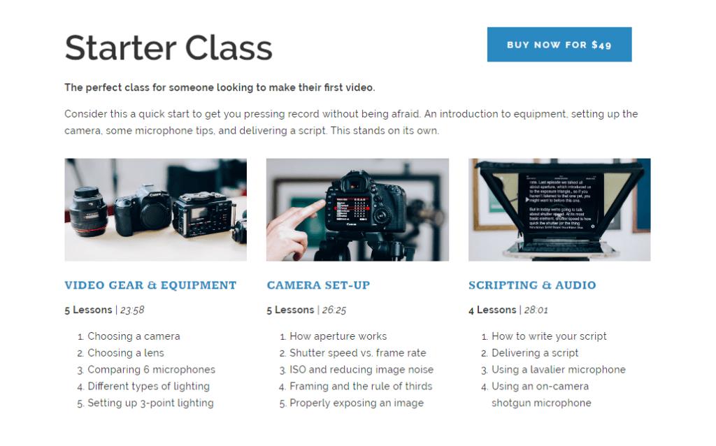 Online Video Production Classes