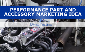 Market performance parts with dyno tests