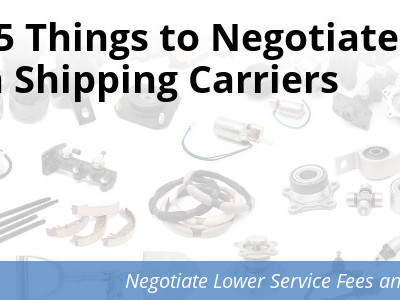 Negotiate shipping services