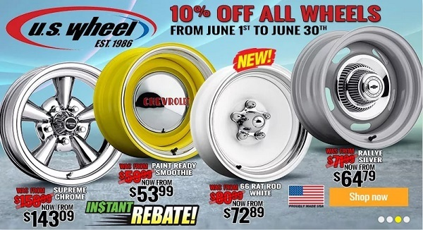 advertisement from JEGS for discounted wheels