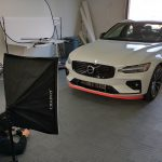 Shooting an All-Fit lip kit on a Volvo S60 inside our studio
